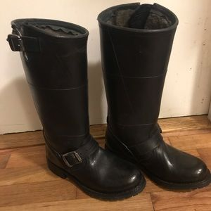 FRYE Engineer Shearling Tall Fain Snow Boots 5.5